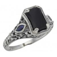 Onyx / Spinel Rings