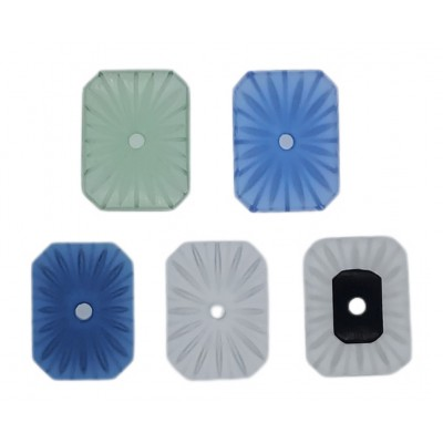 20 x 15mm Pressed Glass Crystals Assorted Colors (Camphor Glass)