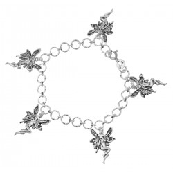 Angel / Fairy Charm Bracelet - Sterling Silver
