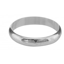 Sterling Silver Bangle Bracelet Engraved Design 12 mm