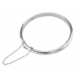 Cute Sterling Silver Baby Bangle Bracelet - 5 mm