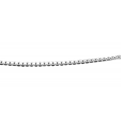 Box Chain Necklace - 24 inch - Sterling Silver