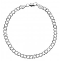 Charm Bracelet - 7 inch - Double Link - 5 mm - Sterling Silver