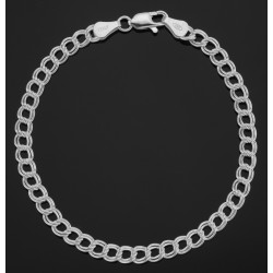 Charm Bracelet - 8 inch - Double Link - 5 mm - Sterling Silver
