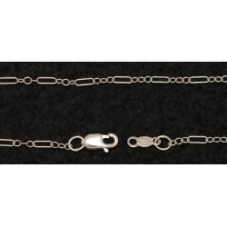 14kt White Gold Deco Chain - 18 inches