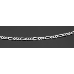 Figaro Link Chain Necklace - 24 inch - Sterling Silver