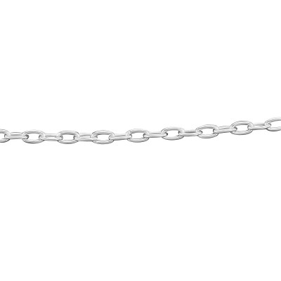 Light Oval Cable Chain Necklace - 20 inch - Sterling Silver