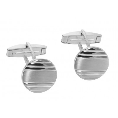 Fine Italian made Round Engravable Cuff Links - Sterling Silver