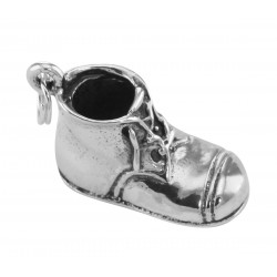 Sterling Silver Baby Shoe Charm or Pendant - Engravable