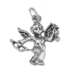 Cute Cherub / Angel / Cupid Charm or Pendant in Fine Sterling Silver