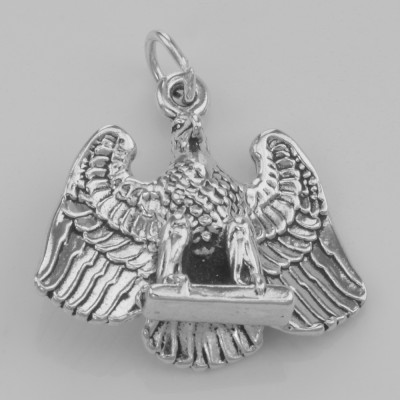 Classic American Bald Eagle Charm or Pendant - Sterling Silver
