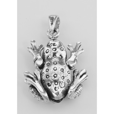Frog Moveable Legs Charm Pendant - Movable - Sterling Silver