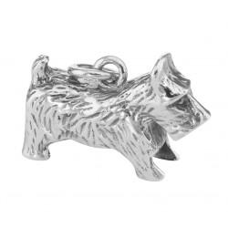 Scottie Dog Charm Pendant - Sterling Silver
