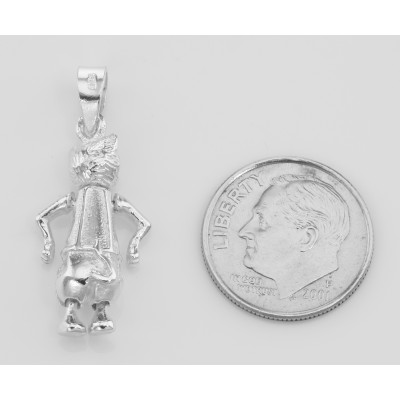 Sterling Silver Moveable Rabbit Pendant Charm Movable