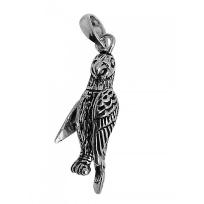 Movable Bird Pendant Charm - Moveable - Sterling Silver