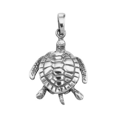 Moveable Sea Turtle Pendant Charm - Movable - Sterling Silver