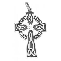 Classic Celtic Design Cross Pendant in Fine Sterling Silver