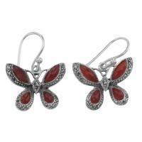 Gemstone / Marcasite Earrings