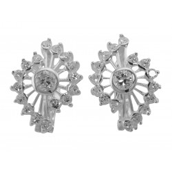 Sparkling Cubic Zirconia Earrings - Sterling Silver