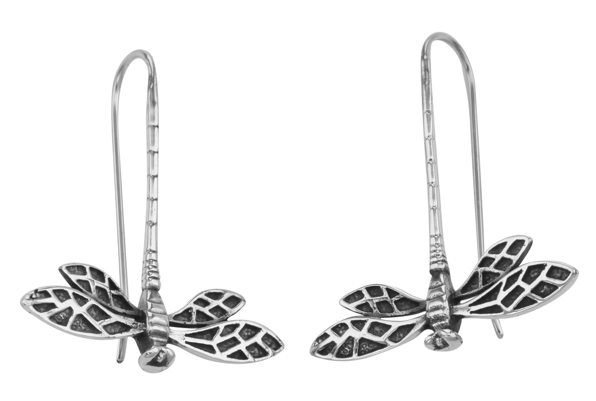 Antique Style Jewelry And Gifts Unique Dragonfly Earrings Sterling Silver E 5920