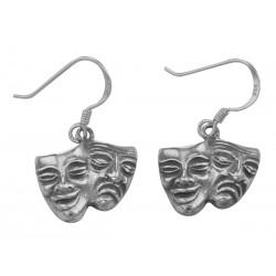 Comedy  Tragedy Earrings - Sterling Silver