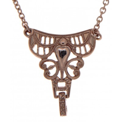 14kt Rose Gold Victorian Style Semi Mount Necklace