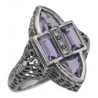 Gemstone / Marcasite Rings