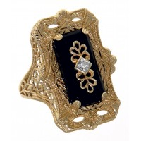 Yellow Gold Filigree Rings