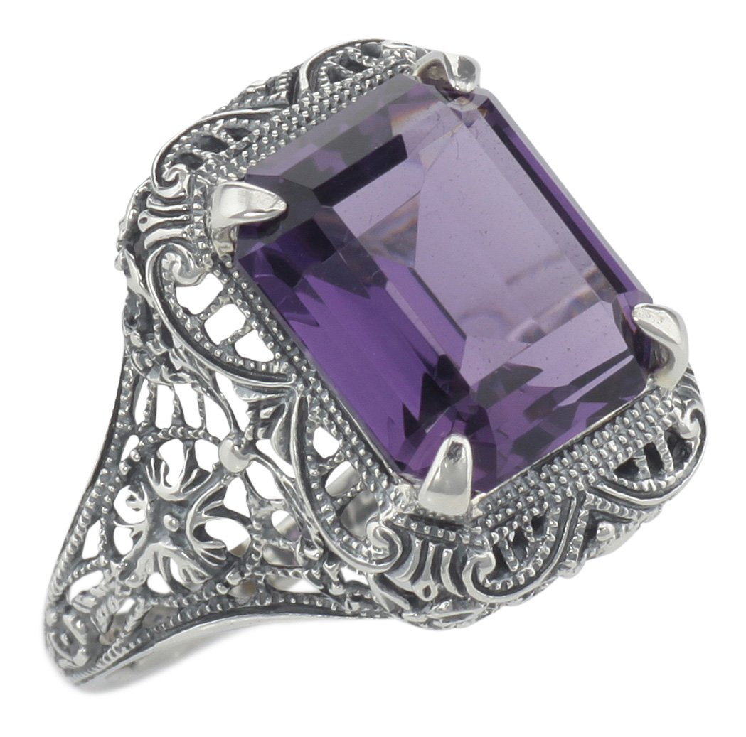 Sterling Silver 925 Art Deco Style Ring RRP $85.00