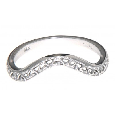 Matching Band for FR-1837 14kt White Gold Filigree Ring
