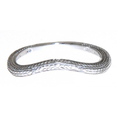 Matching Band for FR-1844 14kt White Gold Filigree Ring
