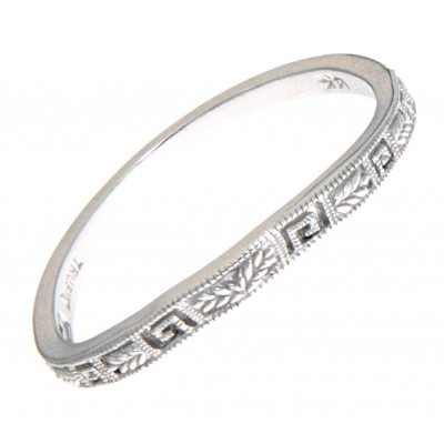 Matching Band for FR-1832 14kt White Gold Filigree Ring