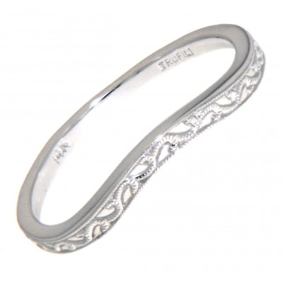 Matching Band for FR-1841 14kt White Gold Filigree Ring