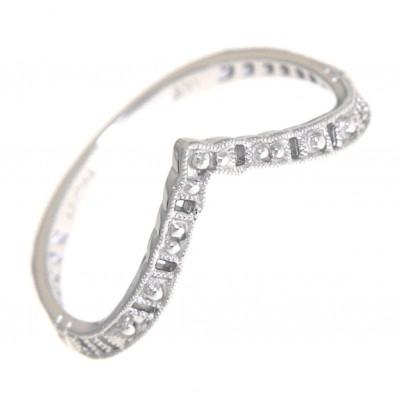 Matching Band for FR-1842 14kt White Gold Filigree Ring