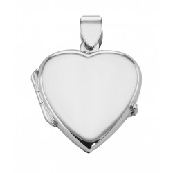 Sterling Silver Small Heart Locket - Smooth Engravable Pendant