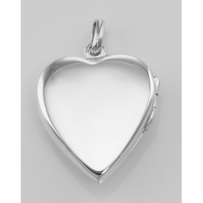 Heart Shaped Cat Sterling Silver Locket Pendant