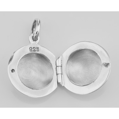 Cute Round Sterling Silver Locket - Engravable