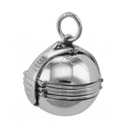 Sterling Silver 6 Photo Ball Locket Pendant