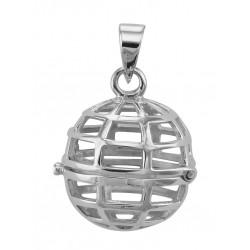 Sterling Silver Filigree Globe Locket - Aromatherapy Locket