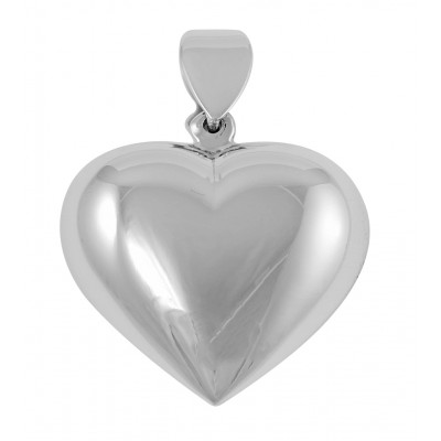 Puffy Heart Pendant - Sterling Silver