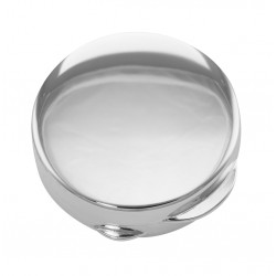 Premium Hand Made Italian Round Sterling Silver Engravable Pillbox