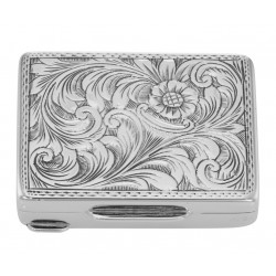 Premium Hand Engraved Italian Sterling Silver Engravable Pillbox