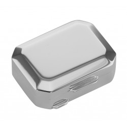 Italian Handmade Octagon Shaped Sterling Silver Pillbox