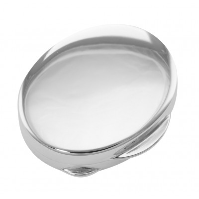 Premium Hand Made Italian Oval Sterling Silver Engravable Pillbox