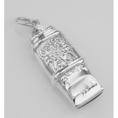 Antique Victorian Style Whistle Pendant - Sterling Silver