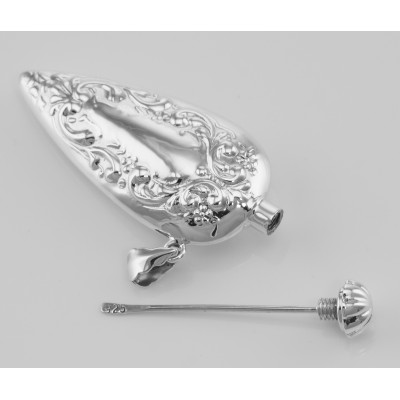 Victorian Style Perfume Pendant Bottle - Sterling Silver