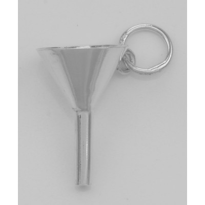 Perfume Funnel Charm - Very Small - Sterling Silver