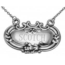 Scotch Liquor Decanter Label / Tag - Sterling Silver