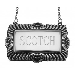 Scotch Liquor Decanter Label / Tag - Sterling Silver