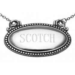 Scotch Liquor Decanter Label / Tag - Oval beaded Border - Made in USA